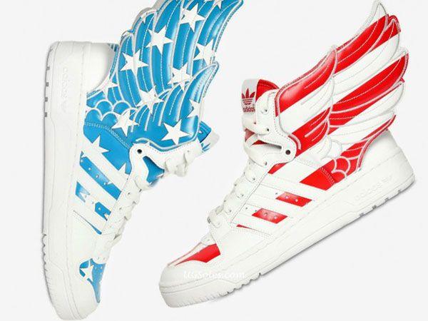 Jeremy Scott Adidas American Flag zapatillas moda Pinterest