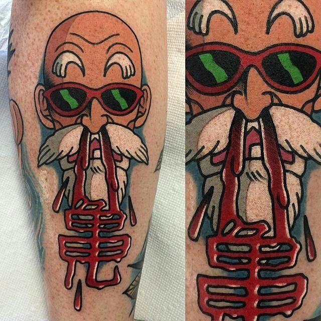 Tattoosnob Com On Instagram Roshi Tattoo By Perjtattoo At Greenappletattoo In Long Island Ny Perjtattoo Adamperj Dragon Ball Tattoo Tattoos Apple Tattoo