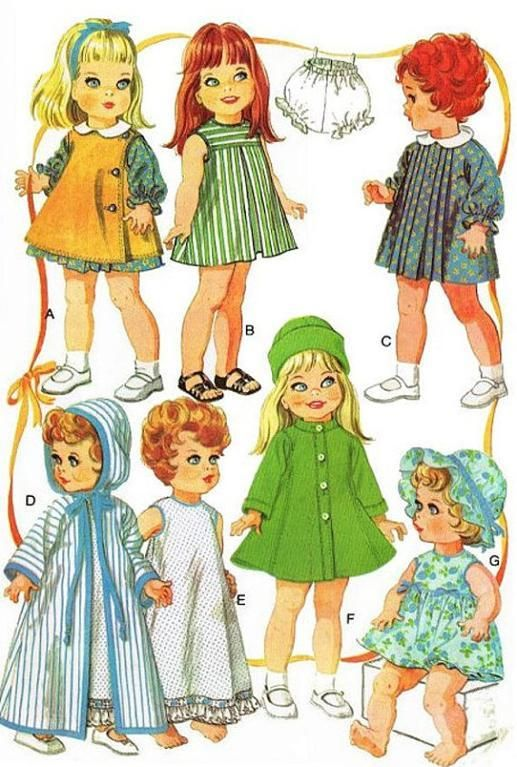 (9) Name: 'Sewing : PDF  12-16' Doll Clothes Sewing Pattern
