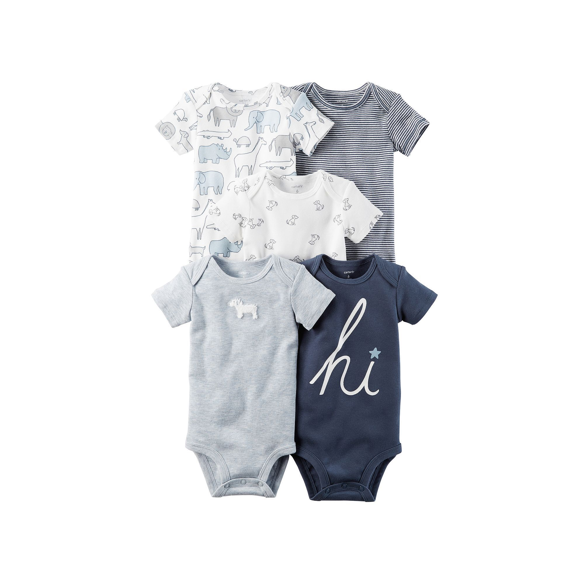 Carter s Baby Boy 5 pk Short Sleeve Bodysuits
