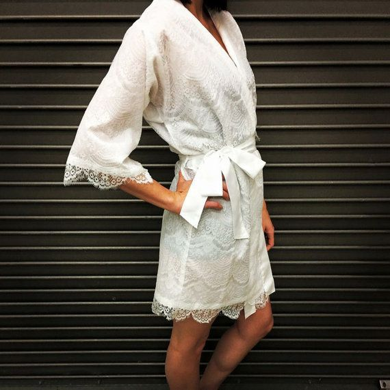 Hey I Found This Really Awesome Etsy Listing At Https Www 224531021 Lace Wedding Robe Bridal White