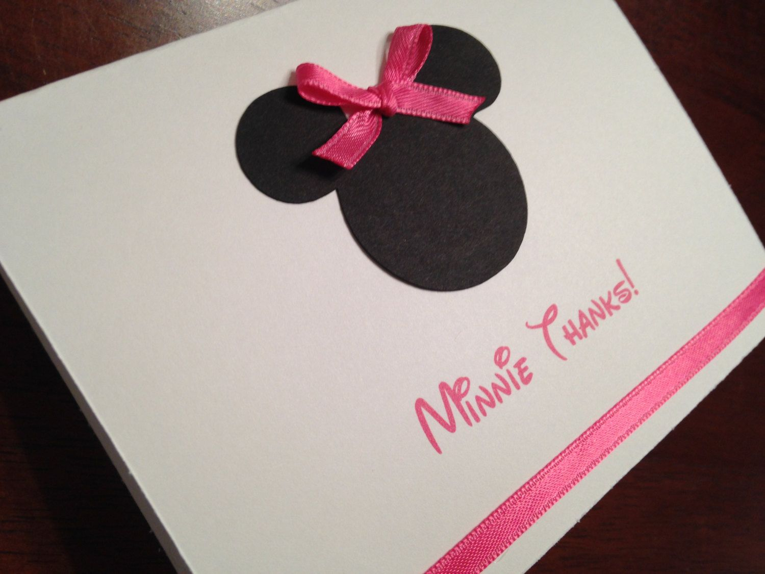 Minnie Thank You Cards Minnie Thanks Birthday Thank You Cards