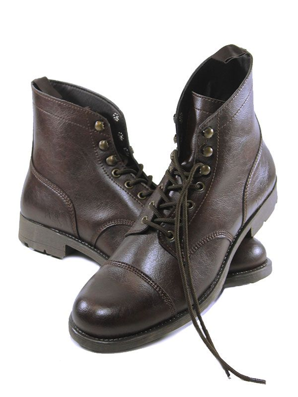 df87eeac1f The Latest Fashion Footwear and Clothing For Men. Work boots in dark brown  http   wills-vegan-shoes.com