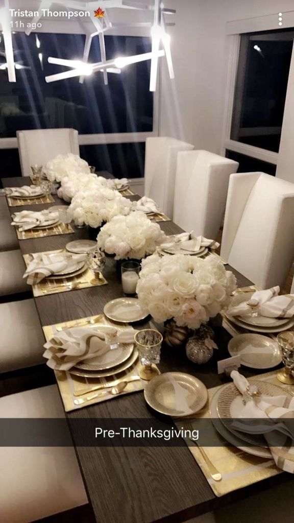 Kardashian Thanksgiving Recipes And Decorating Tips: Pregnant Khloé Kardashian Hosts Thanksgiving With Tristan