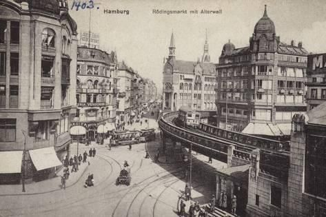 Photographic Print Postcard Depicting The Rodingsmarkt 24x16in