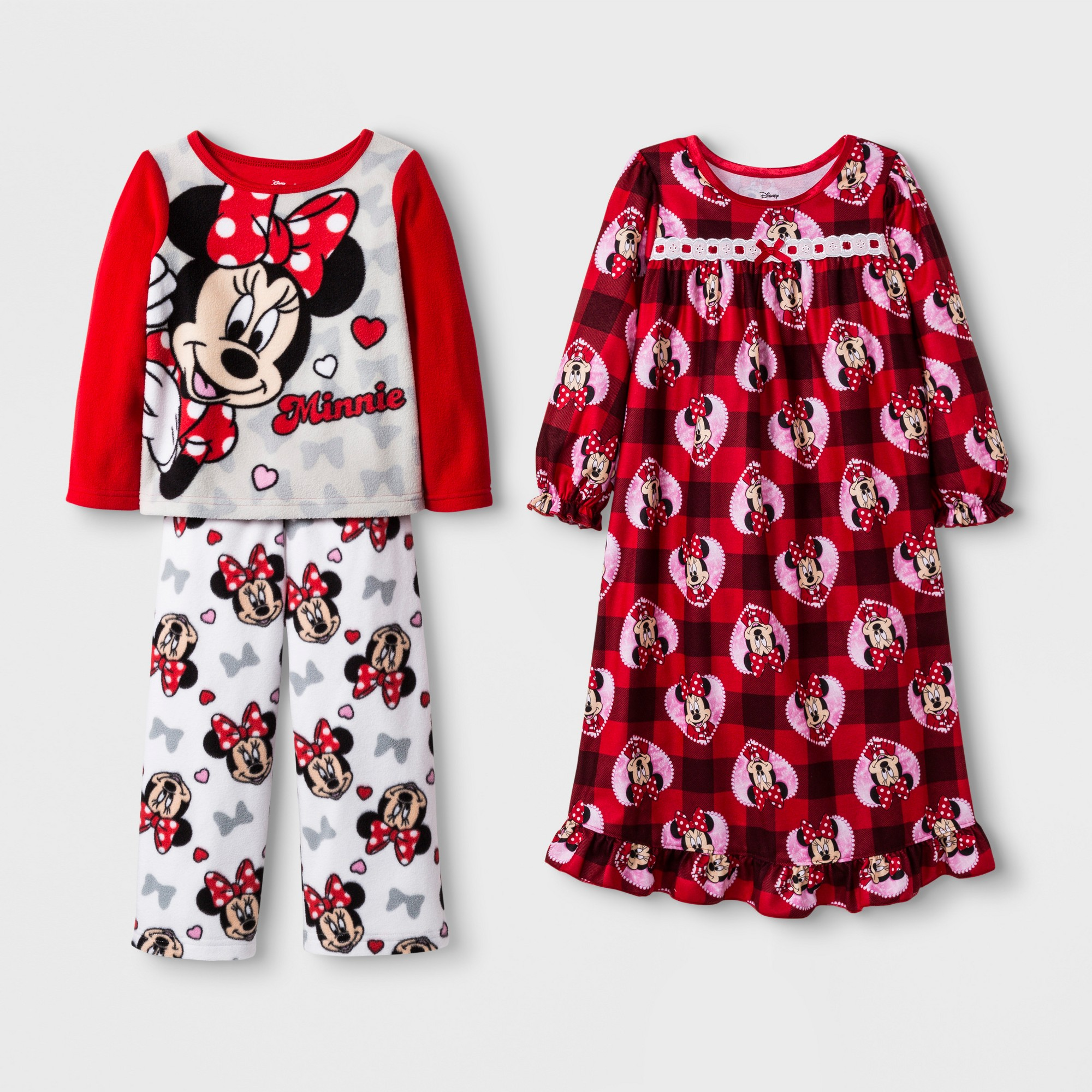 Toddler Girls  Minnie Mouse 3pc Pajama Set - Red 2T  76ed6b0dd