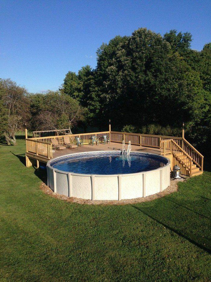 1001 conceptions cr atives pour une piscine sur lev e piscine - Petite piscine en bois ...