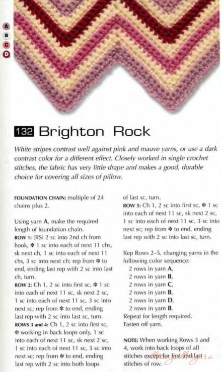 Brighton Rock | Ripple and Chevron Afghans | Pinterest | Patrones