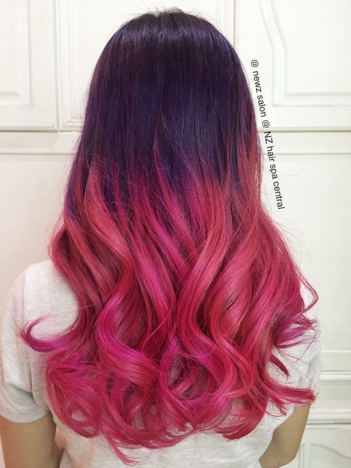 Dyed Hairstyles Stunning Opals Purple Dip Dye Fade Pink Balayage Ombre Hair Dye Effect Ideas