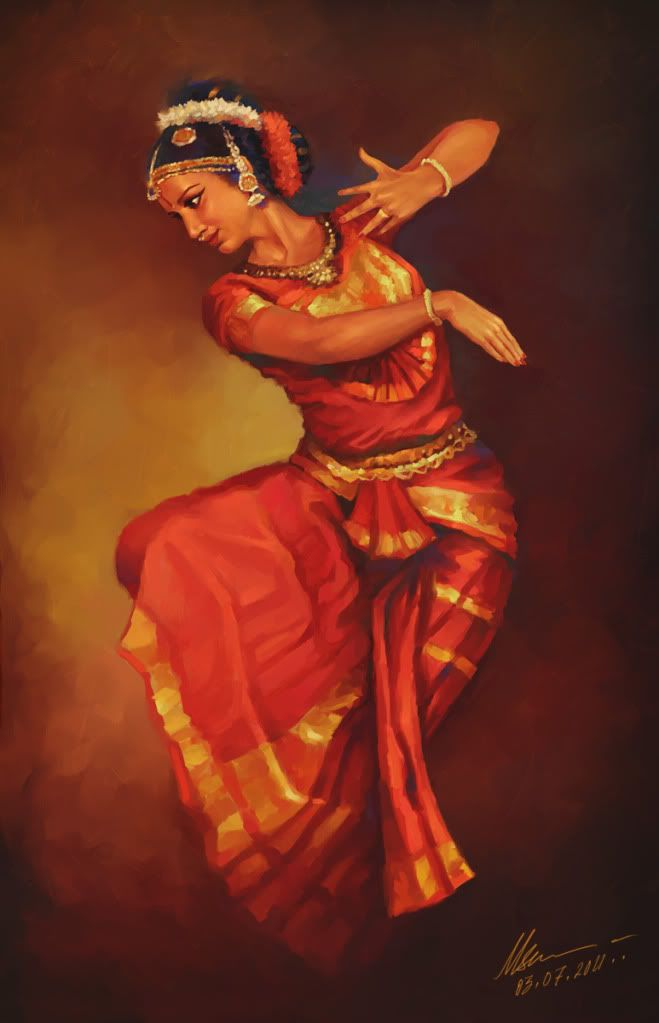 Indian Dancing Dance Paintings Indian Classical Dance Dancer Painting