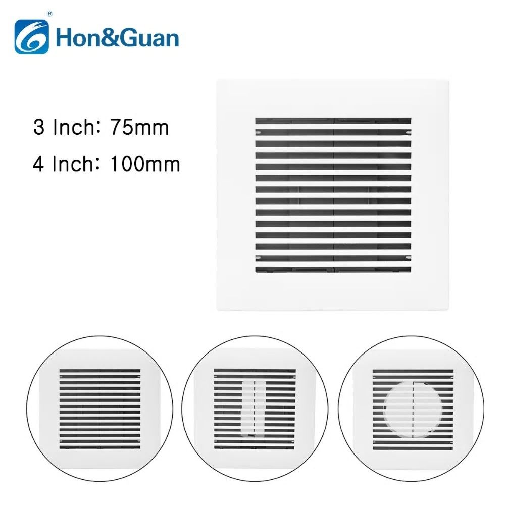 Hon Guan 3 4 Square Air Vent Abs Grille Cover White Soffit Vent For Bathroom Office Bathroom Fan Bathroom Fan Light Bathroom Exhaust Fan