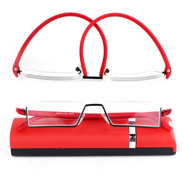 b3ea7e8c1b Womens Mens Folding Half Frame Reading Glasses Computer Best Elastic Frame  Prescription Glasses  Glasses