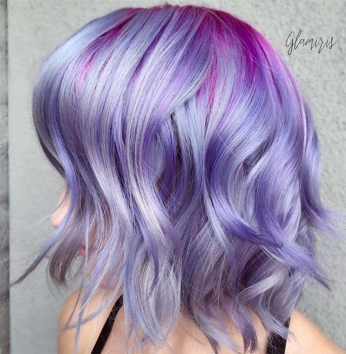Elegant Hair Color Lavender