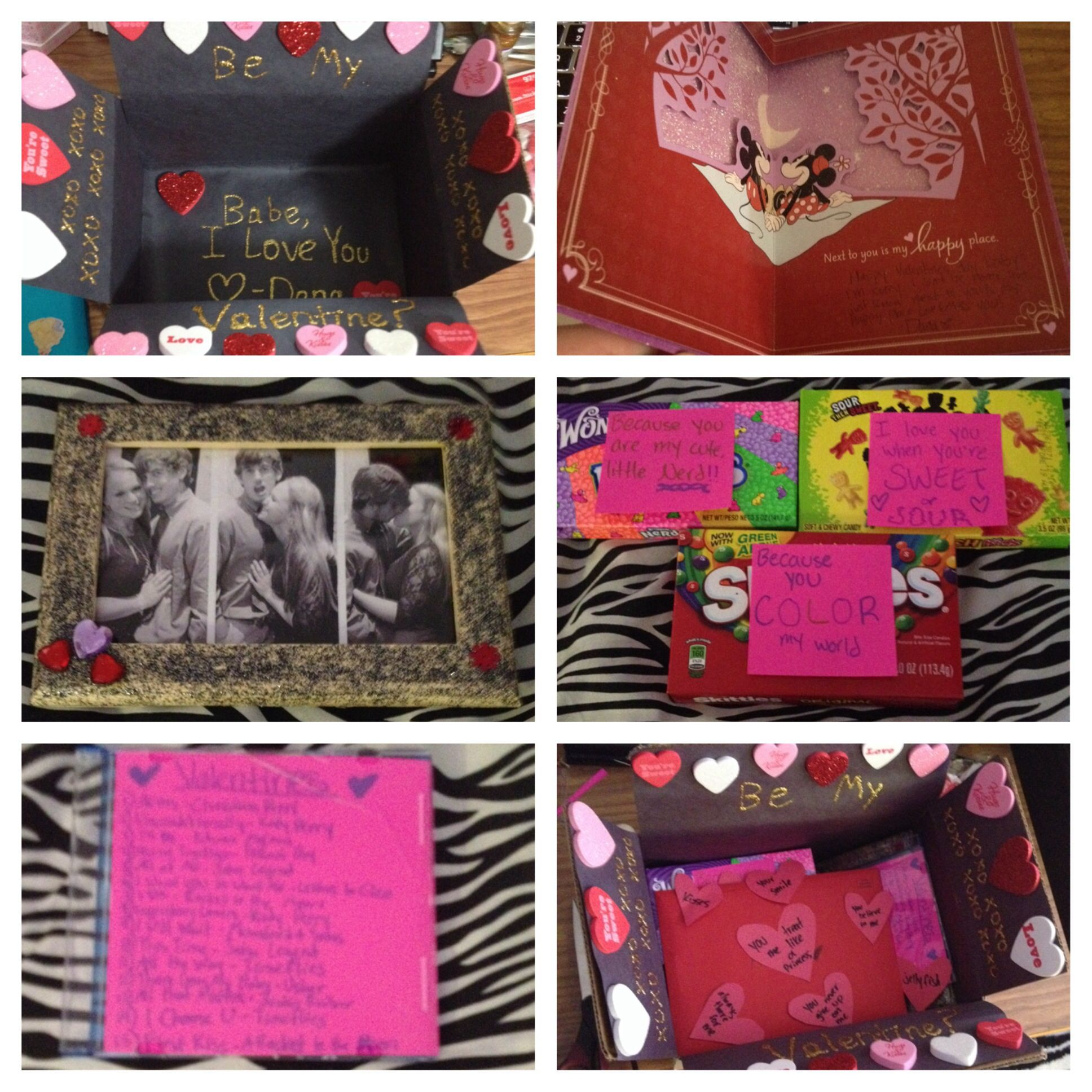 Valentines t for my long distance babe Decorated the box gave
