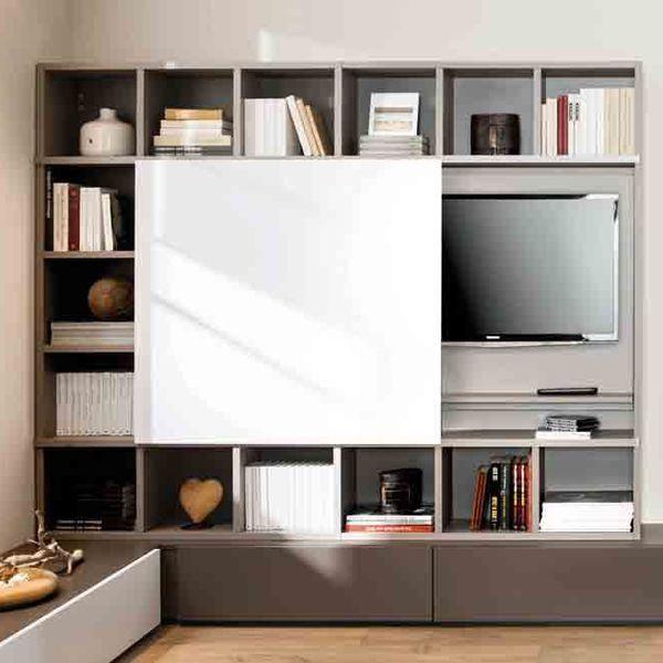 O mettre la t l dans le salon meuble tv pinterest for Meuble qui cache la tv