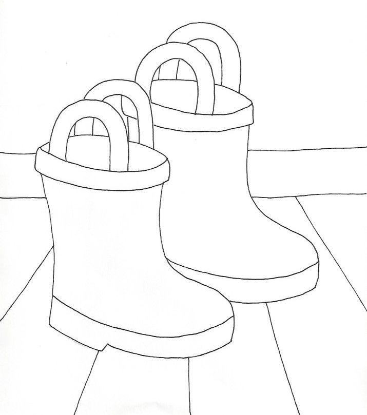 Rain Boots Coloring Page From Weefolkart Com Wee Folk Boot Coloring Pages