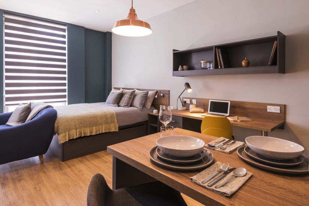 Pin By Amber Xu On Interiors Student Accommodation Student Apartment Living Room Decor