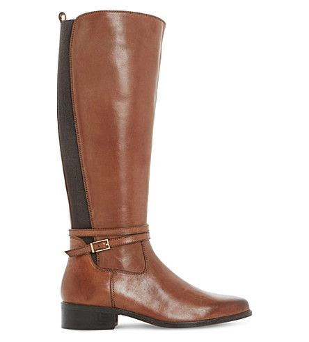 Knee High Boots Brown Leather