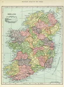 Ireland map vintage map antique map C S Hammond