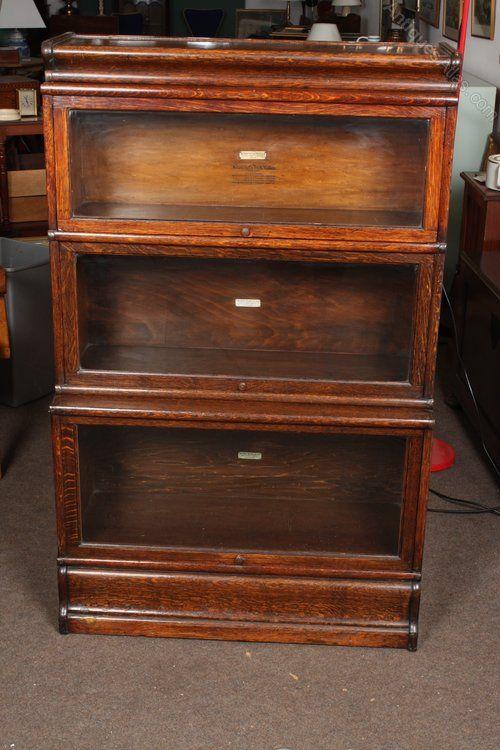 Tiger Oak 3 Tier Globe Wernicke Bookcase Antiques Atlas