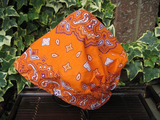 キャップ 作り方 バンダナ バンダナキャップの作り方。無料の型紙つき