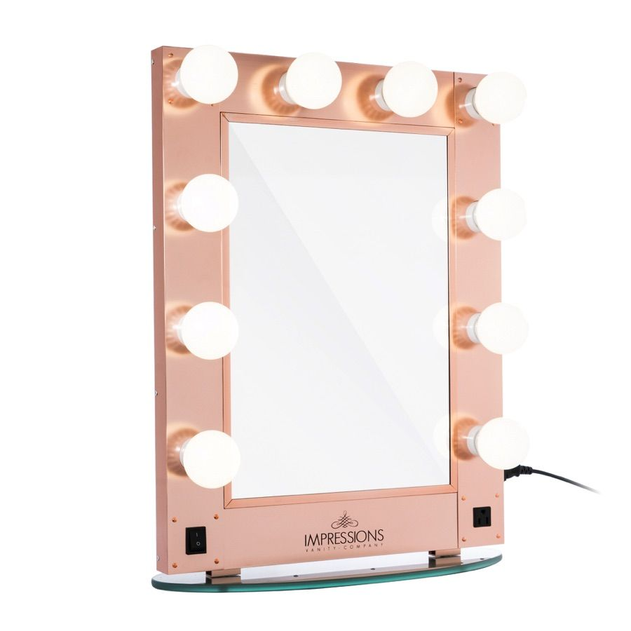 Hollywood glamour vanity mirror with led bulbs hollywood for Bedroom decor and accessories
