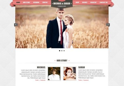 The Wedding Website Templates Are One Of Good Ways To Start A Site Dedicated Weddings