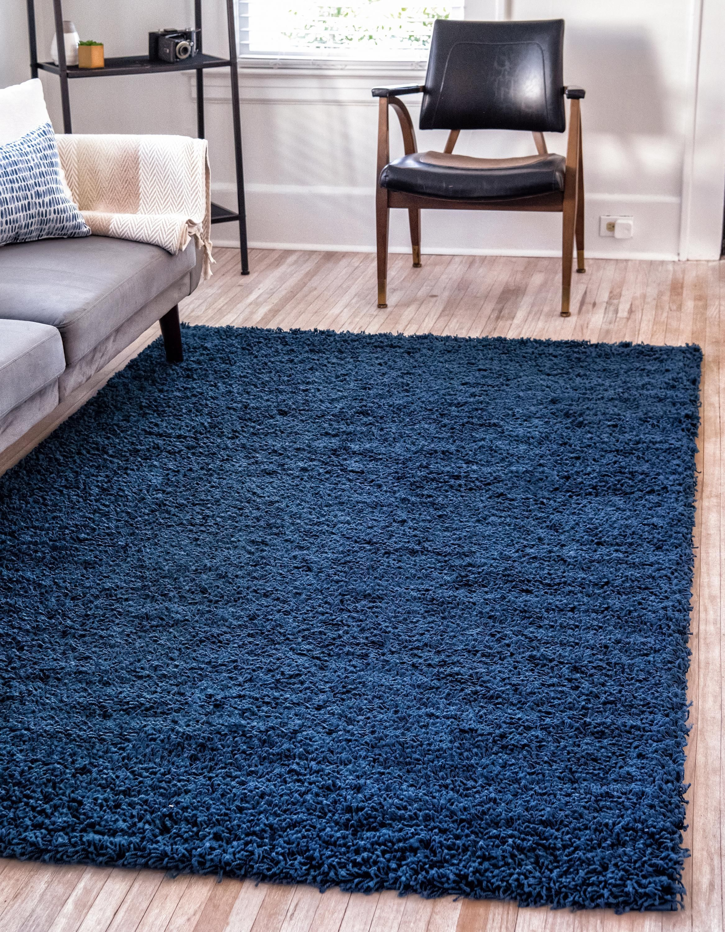 Sapphire Blue 5 X 8 Solid Shag Rug Area Rugs Esalerugs With