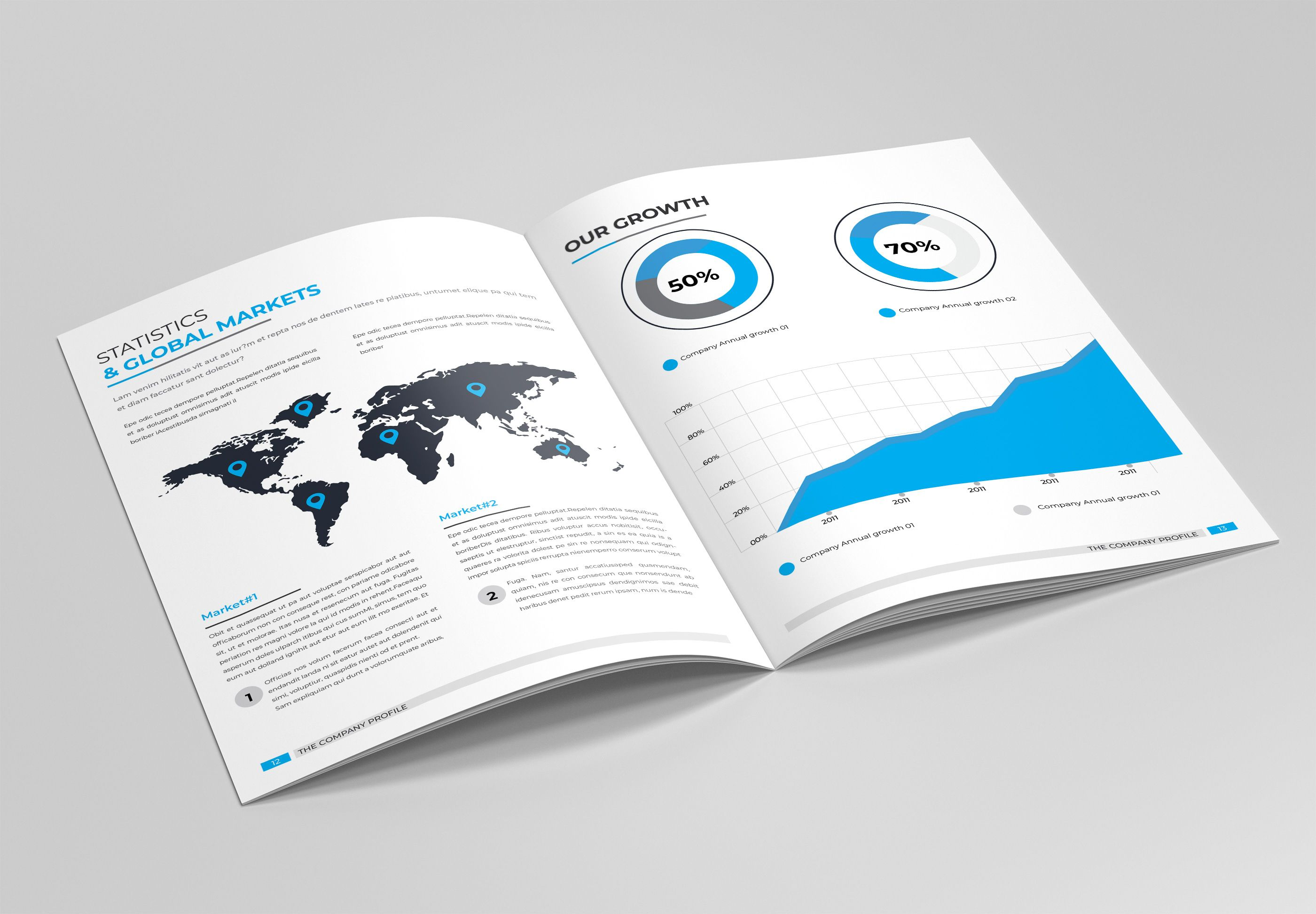 pany Profile Brochure Template on Behance