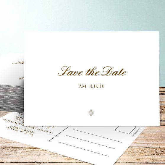 Save the Date Karten schlicht und elegant savethedate hochzeit