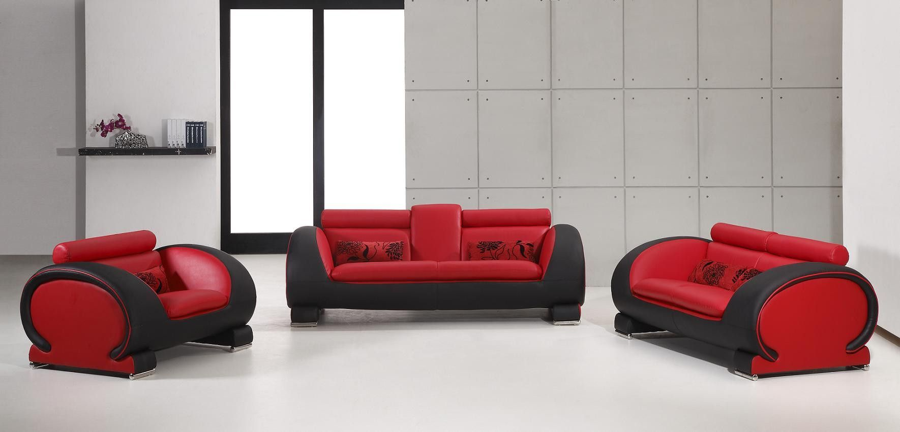 Divani Casa 2811 - Modern Bonded Leather Sofa Set | Game room ...