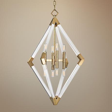 "Fresh Hudson Valley Lyons 23 1 2"" Wide Aged Brass Pendant Light Fresh - Cool 2 light pendant fixture Minimalist"