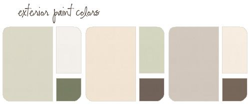 Exterior Paint Color Combinations Grand Plans for the Outside of