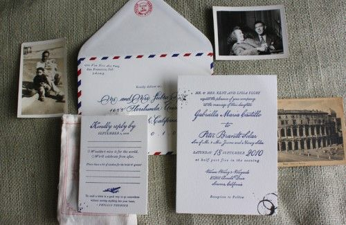 Airmail Wedding Invitations