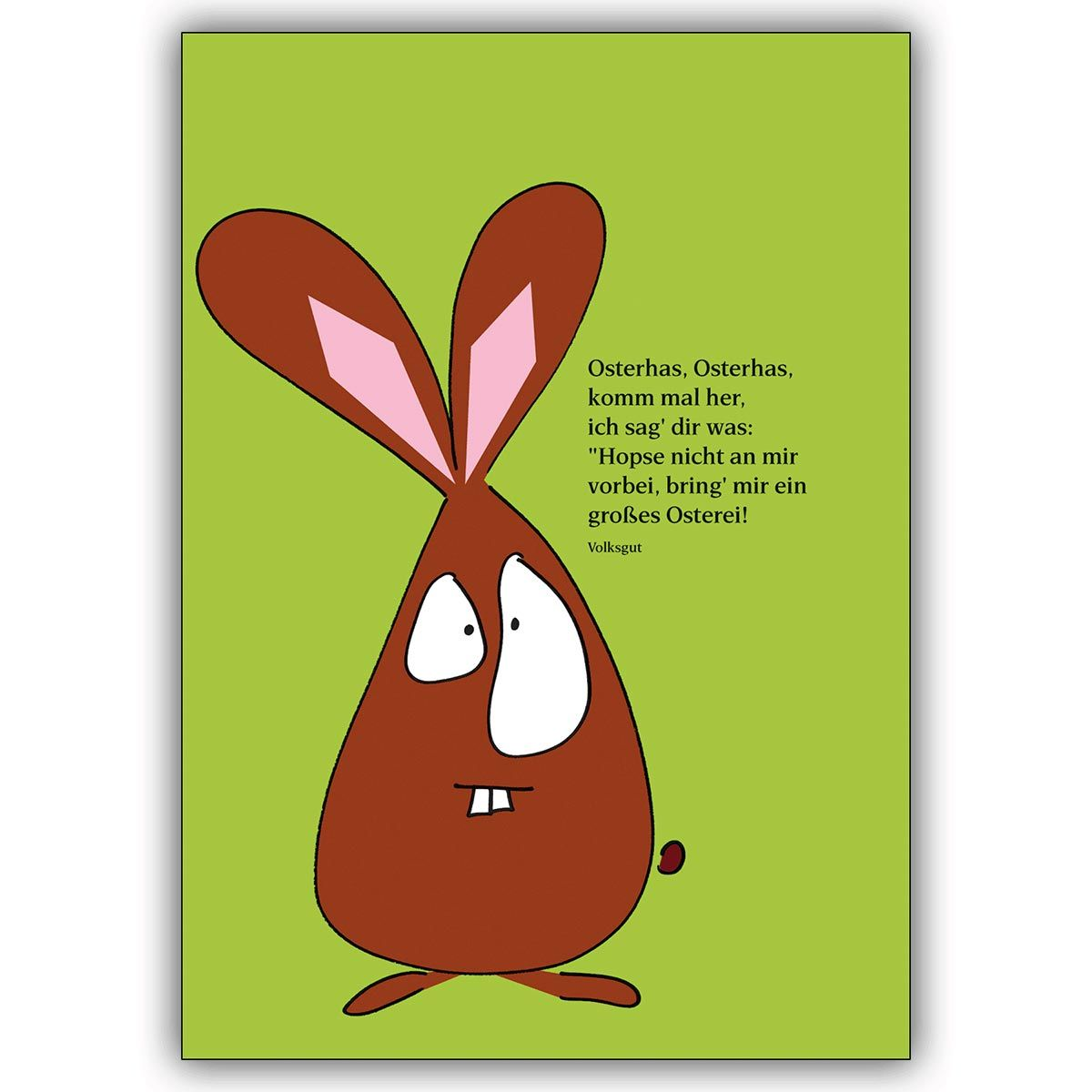 lustige illustrierte osterhasen osterkarte in grasgr n mit spruch 1 easter cards pinterest. Black Bedroom Furniture Sets. Home Design Ideas
