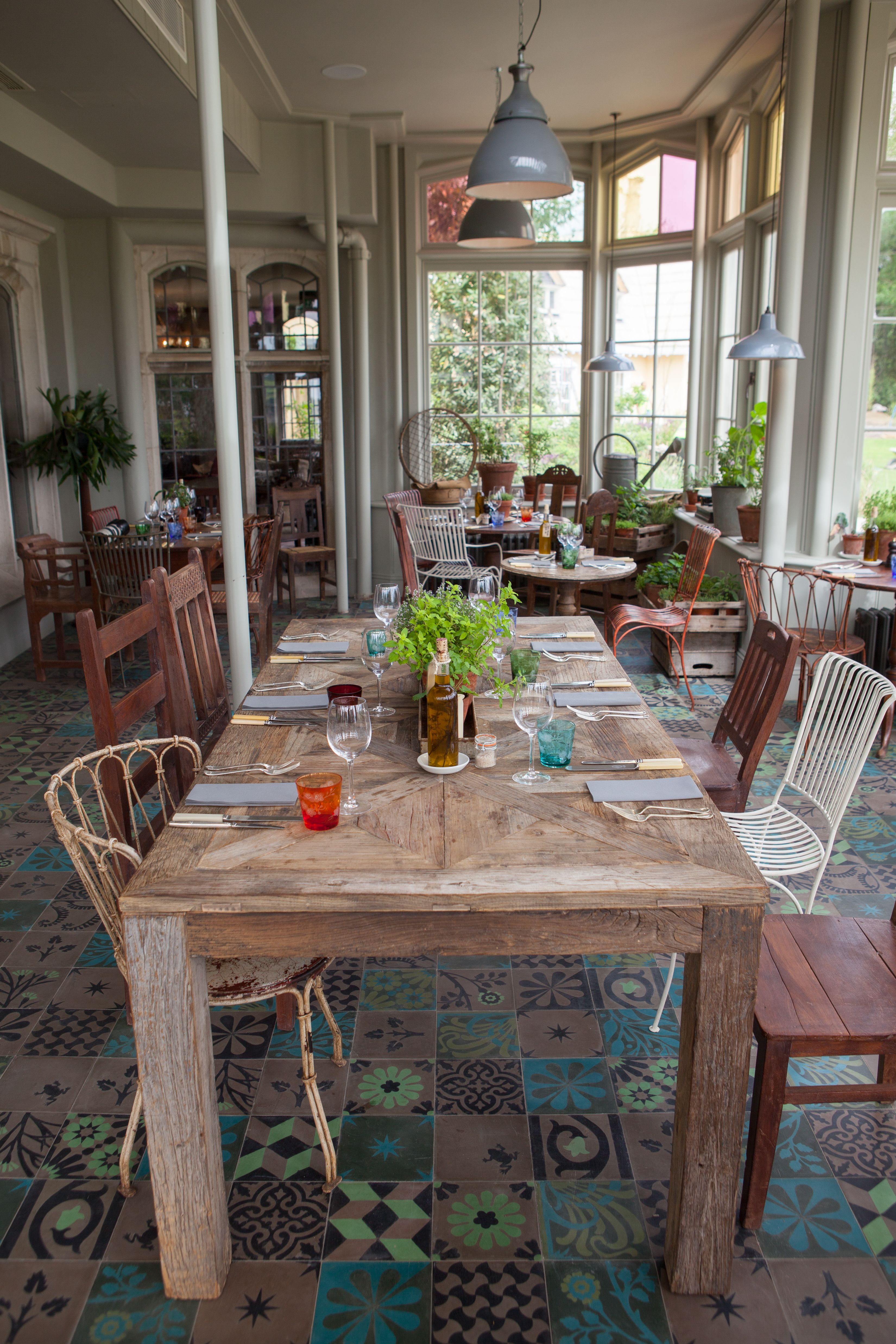 From I Love Your Style Dining Room at The Pig Hotel in New Forest