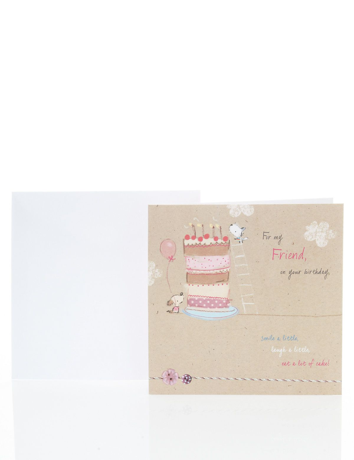 Cute Friend Birthday Card M S Fem Design Pinterest Friend