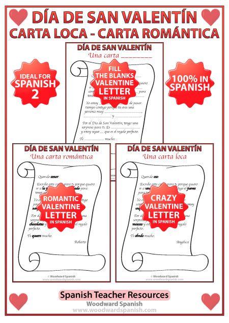 Spanish Valentines Day Letters Activity  Spanish Teacher