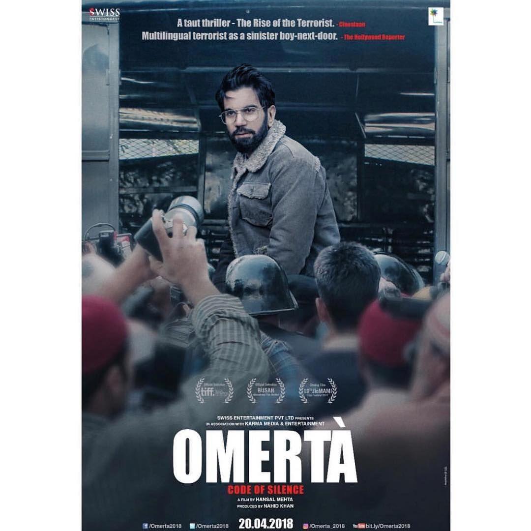 Here's @rajkummar_rao in the second poster of #Omerta