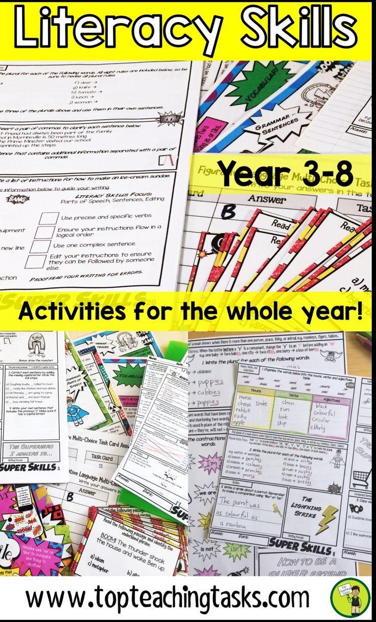 Writing and Literacy Skills BUNDLE Year 3 and 4, Year 5