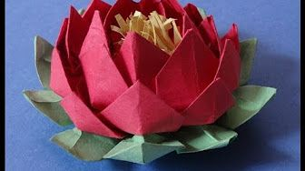 Artsncraft4u Youtube Origami Lotus Flower Origami Flowers Origami And Quilling