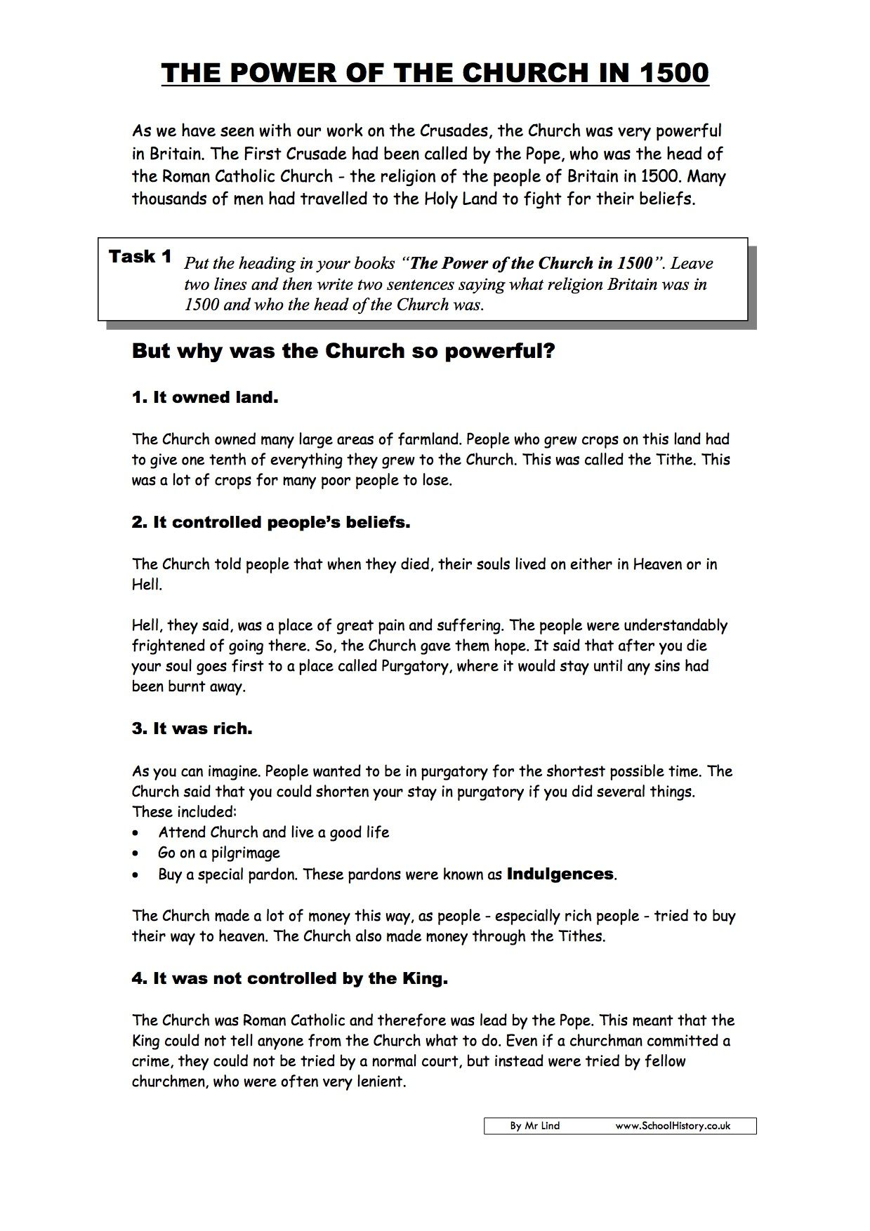 - Free History Worksheets KS3 & KS4 Lesson Plans & Resources (With