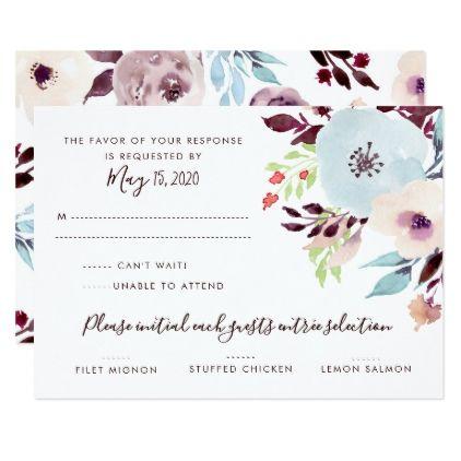 watercolor garden wedding rsvp card wedding rsvp rsvp and wedding