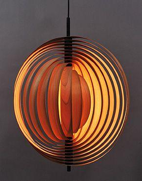 lustre en bois scandinave LUSTRE SALON