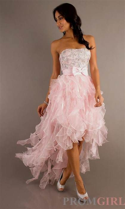 Cool light pink prom dresses high low 2017-2018  sc 1 st  Pinterest : light pink high low dress - www.canuckmediamonitor.org