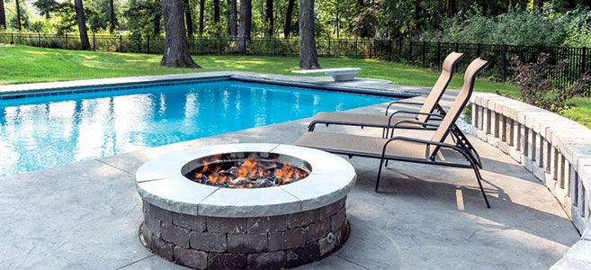 Blingee Graphics Swimming Pool With Fire Pit However Others May Choose To Install A Fire Pit On Fire Pit Near Pool Fire Pit Near Swimming Pool Chicago Pool