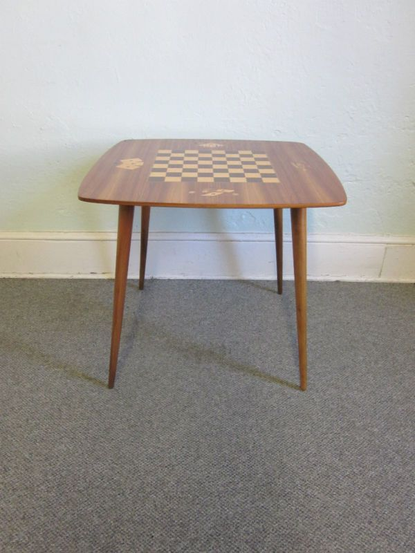 mid century modern chess table need to DIY a version