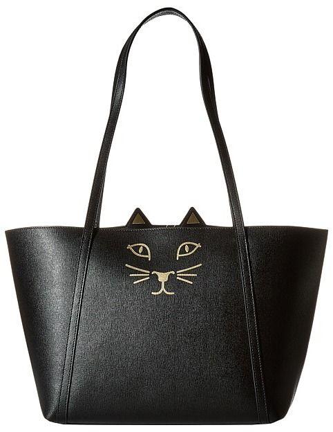 Charlotte Olympia - Mini Feline Shopper - Let the curious and fun design of  the Charlotte Olympia Mini Feline Shopper be your stylish familiar.    Shopper ... 463fda33c7