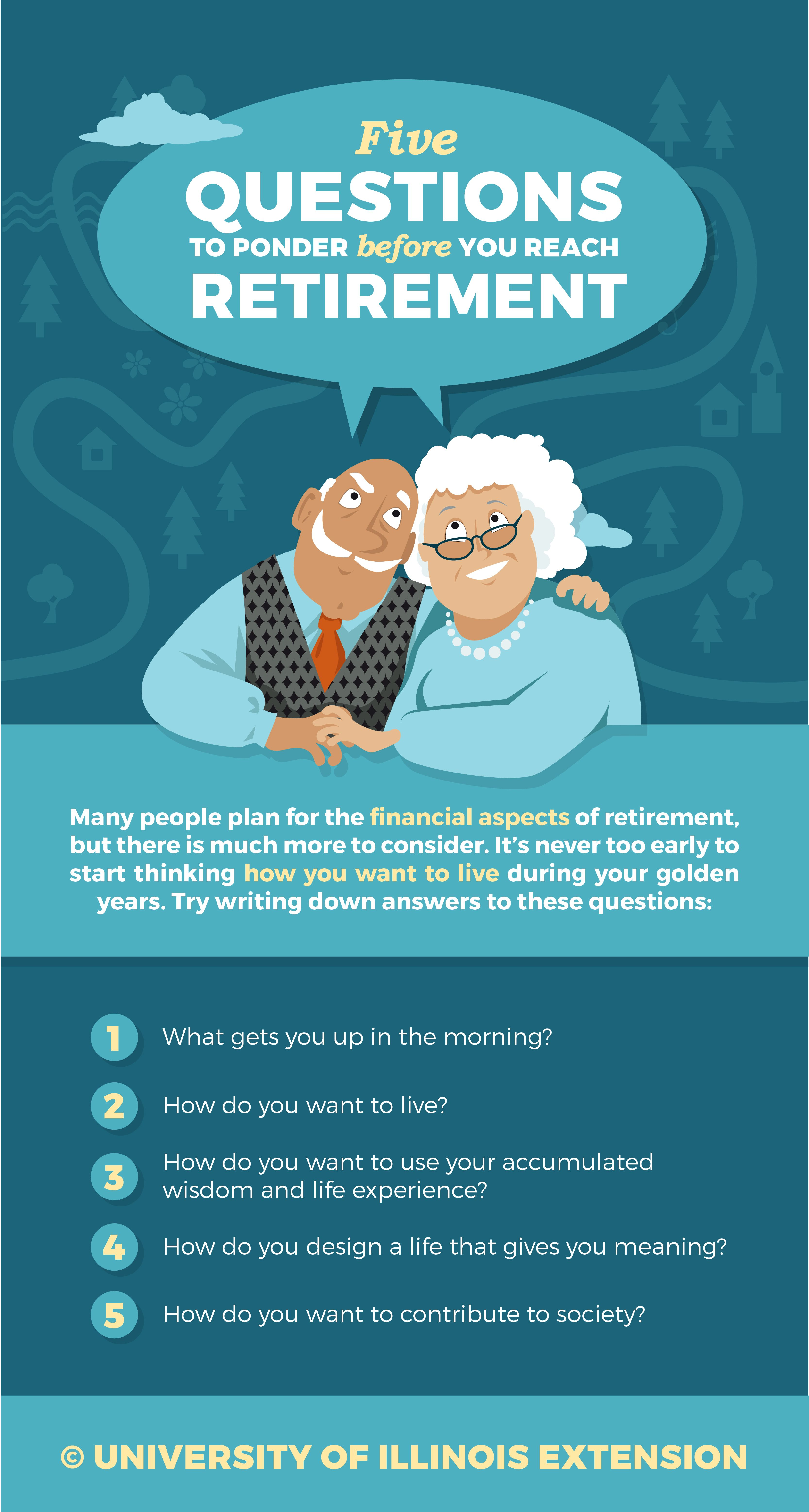 five questions to ponder before you reach retirement planning