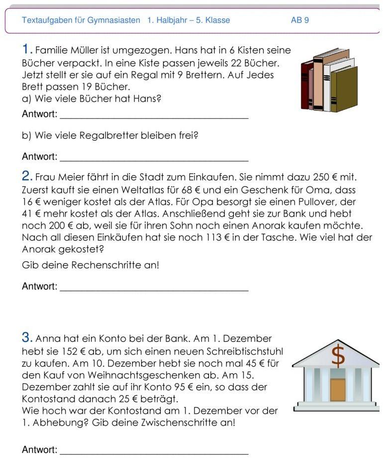 Übungsblatt zu Textaufgaben und Zweisatz | Mathematik | Pinterest ...